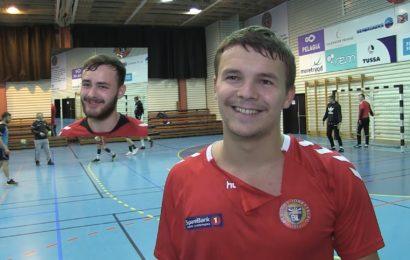 Forberg og Jovaišas før avkast mot Strindheim